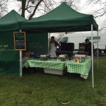 The team doing a hog roast in Hampton Court in Surrey